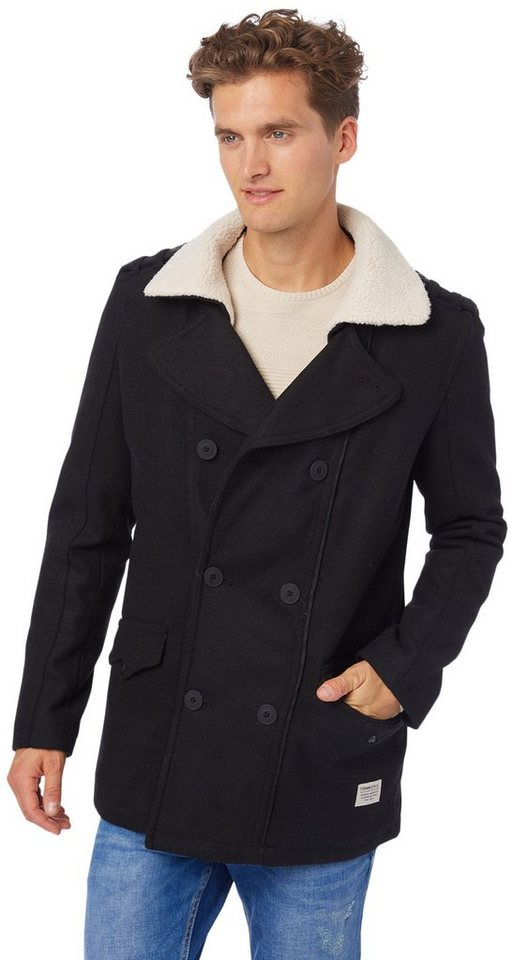 TOM TAILOR DENIM Jacke »wool caban« in black