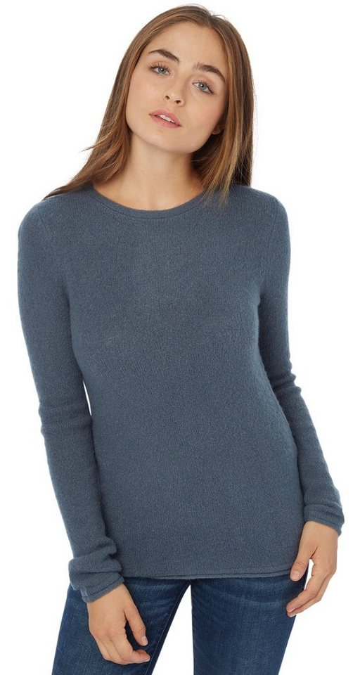 TOM TAILOR Pullover »Rundhals Pullover« in canvas petrol