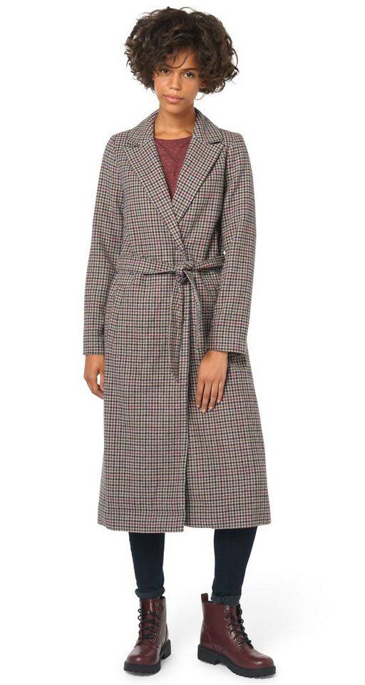 TOM TAILOR DENIM Jacke »langer Mantel mit Muster« in original
