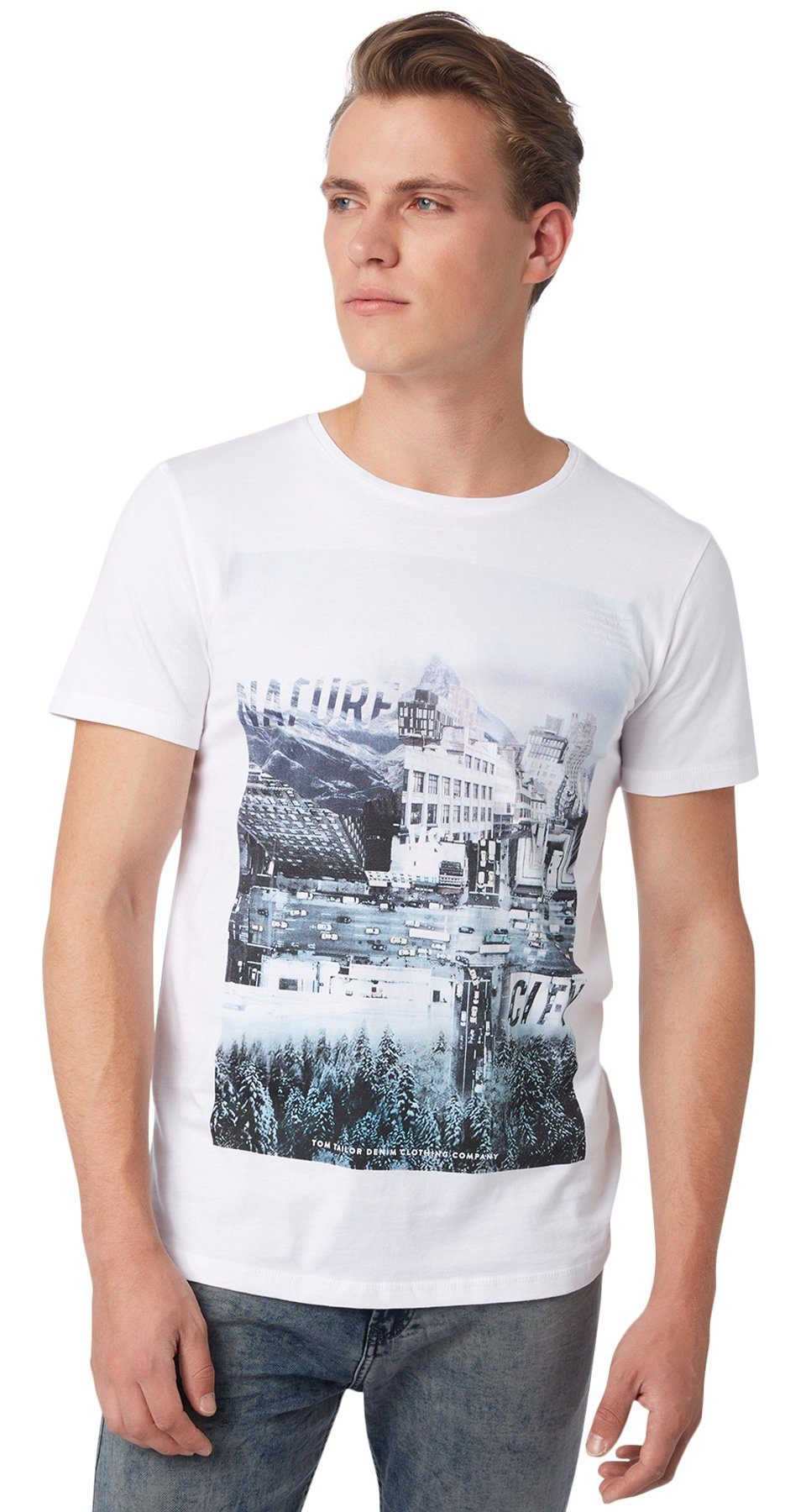 TOM TAILOR DENIM T-Shirt »T-Shirt mit Print«