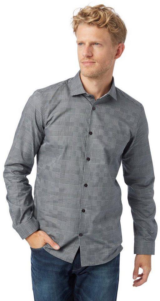 TOM TAILOR Hemd »floyd easy care check shirt« in almost black