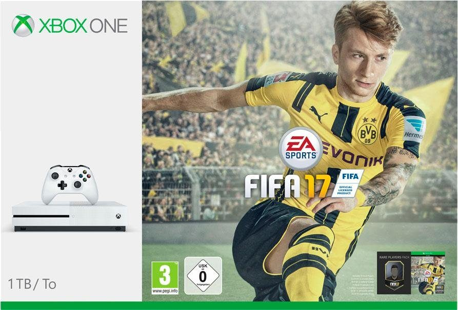 Xbox One S 1TB + Fifa17 (DLC), 4K Ultra HD