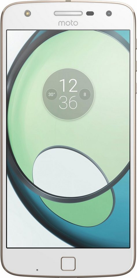 Lenovo Moto Z Play Smartphone, 13,97 cm (5,5 Zoll) Display, LTE (4G), Android 6.0 (Marshmallow) in weiß/goldfarben
