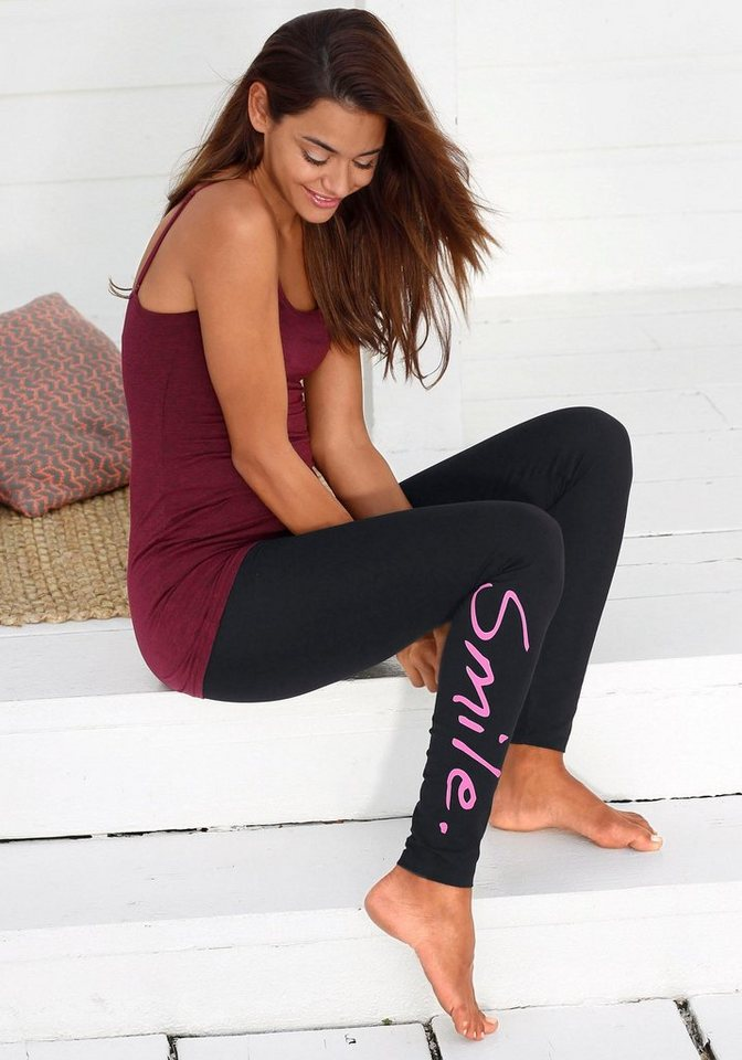 Buffalo Leggings in »smile«-Design