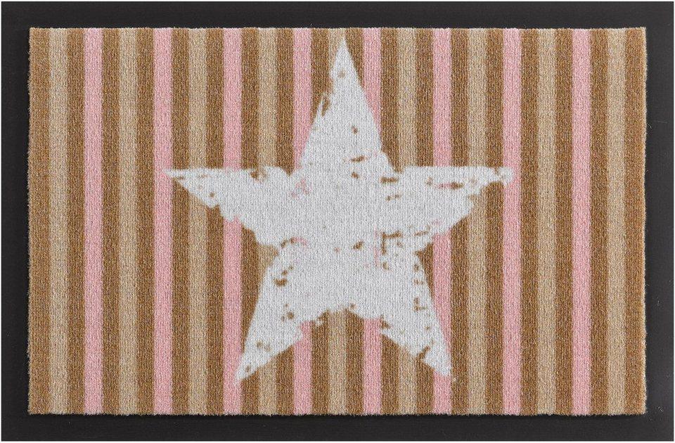 Fußmatte, Hanse Home, »Stars and Stripes«, rutschhemmend beschichtet, getuftet in beige rosa