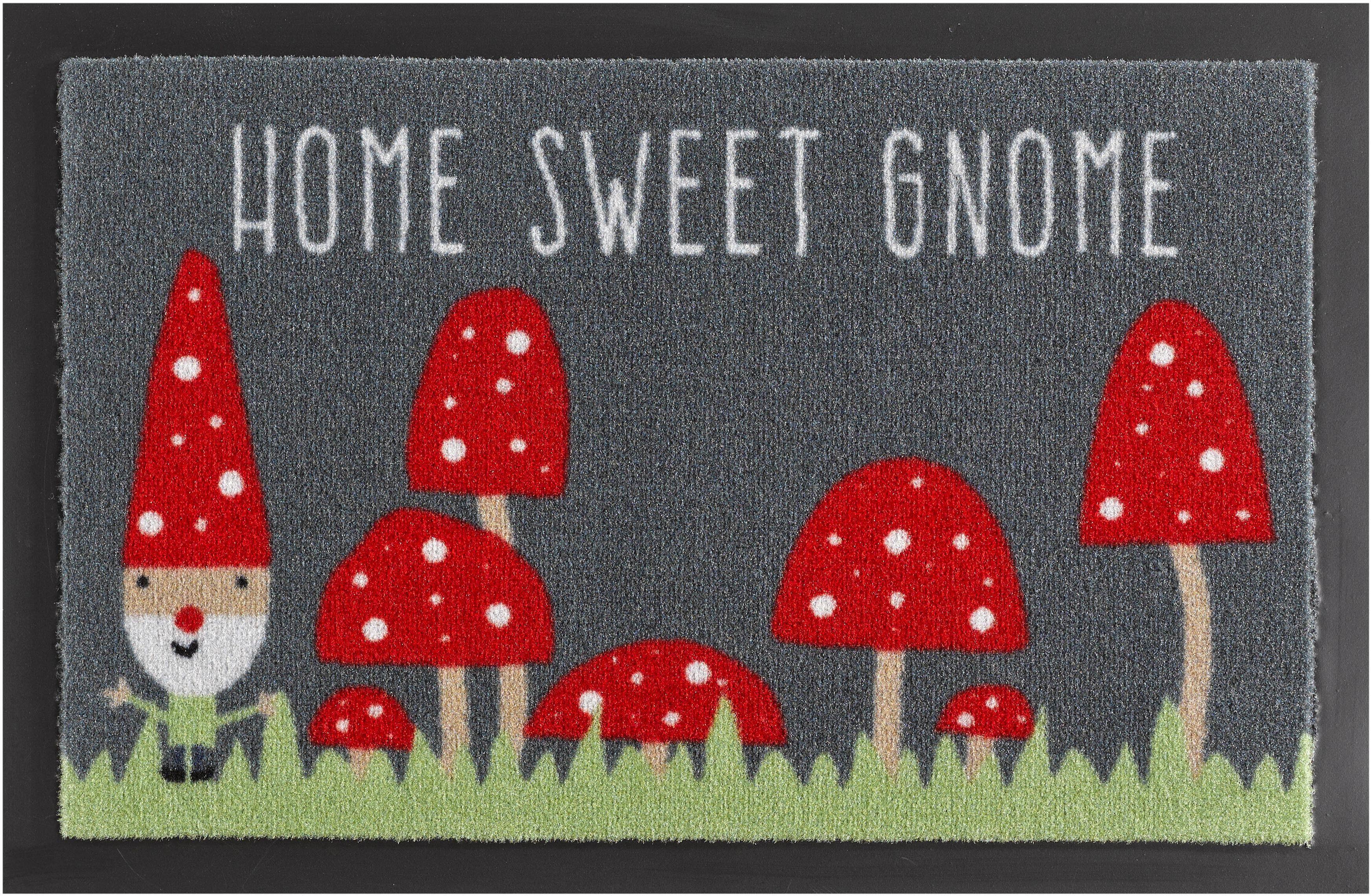 Fußmatte »Home Sweet Gnome«, Hanse Home, rechteckig, Höhe 7 mm, rutschhemmend beschichtet