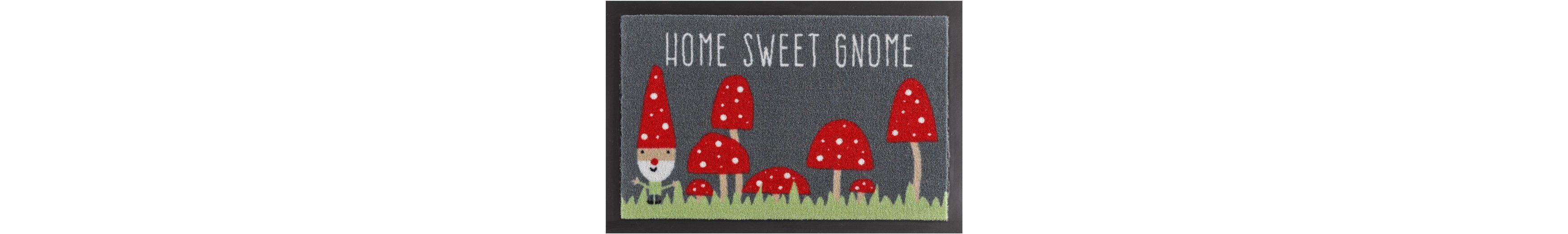 Fußmatte, Hanse Home, »Home Sweet Gnome«, rutschhemmend beschichtet, getuftet