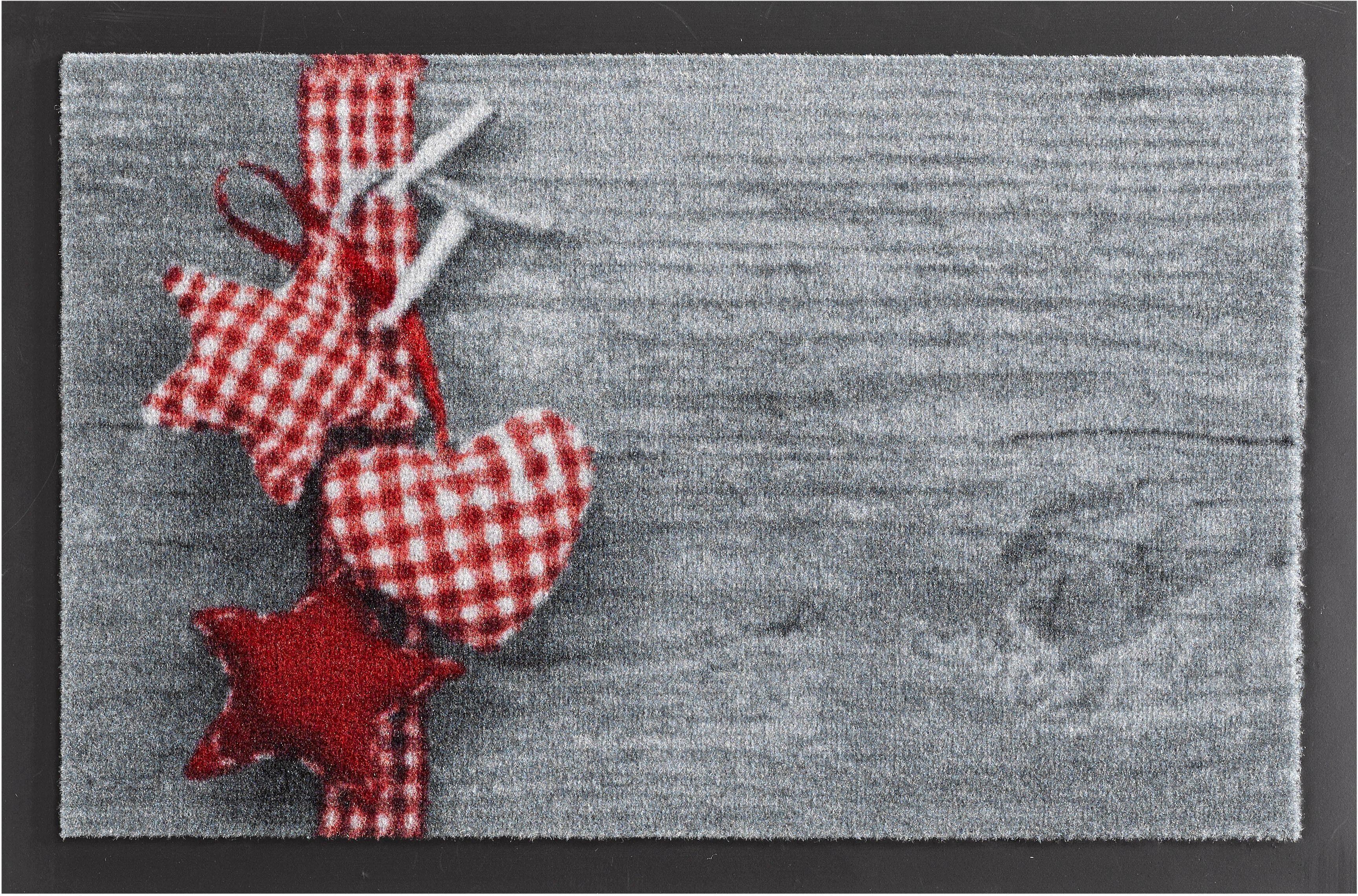Fußmatte, Hanse Home, »Stern mit Herz«, rutschhemmend beschichtet, getuftet