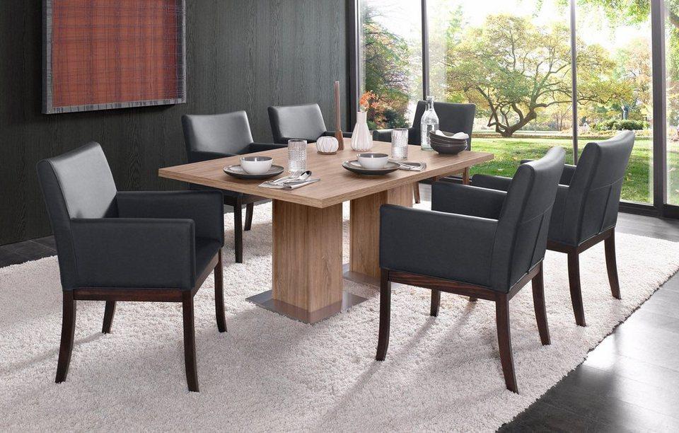 s ulen esstisch breite 160 190 cm mit oder ohne. Black Bedroom Furniture Sets. Home Design Ideas
