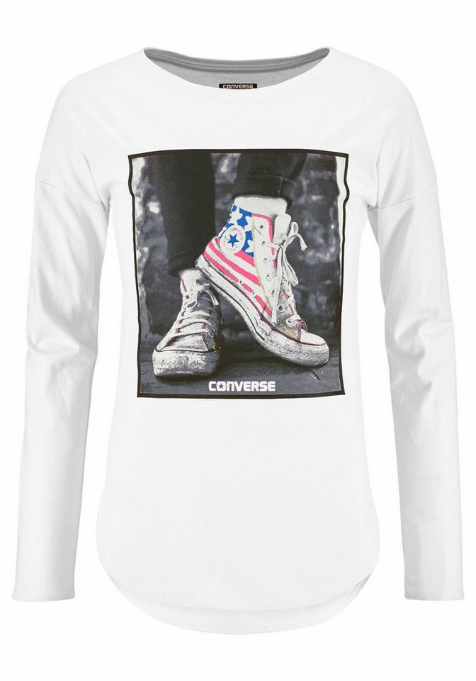 Converse Langarmshirt in weiß