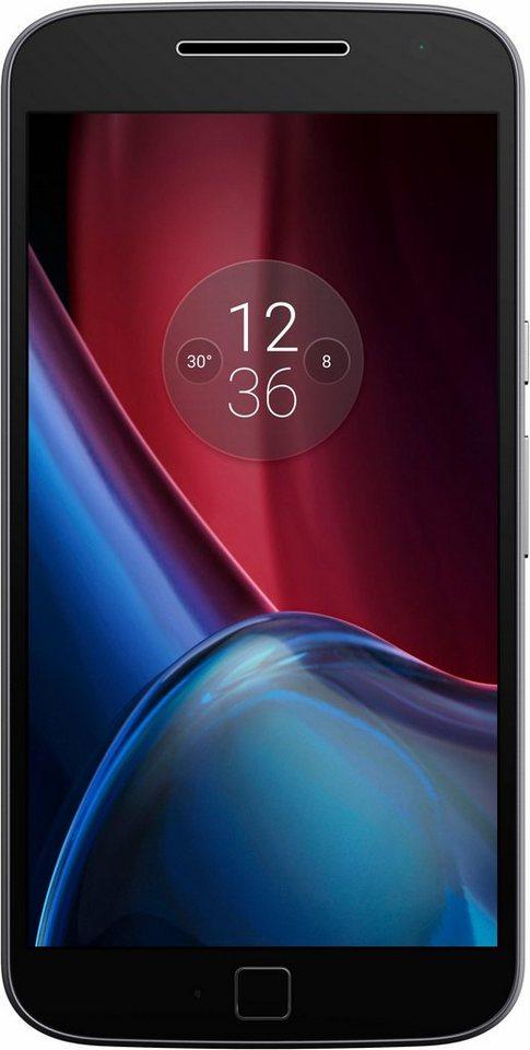 Lenovo Moto G4 Plus Smartphone, 13,97 cm (5,5 Zoll) Display, LTE (4G), Android 6.0 (Marshmallow) in schwarz