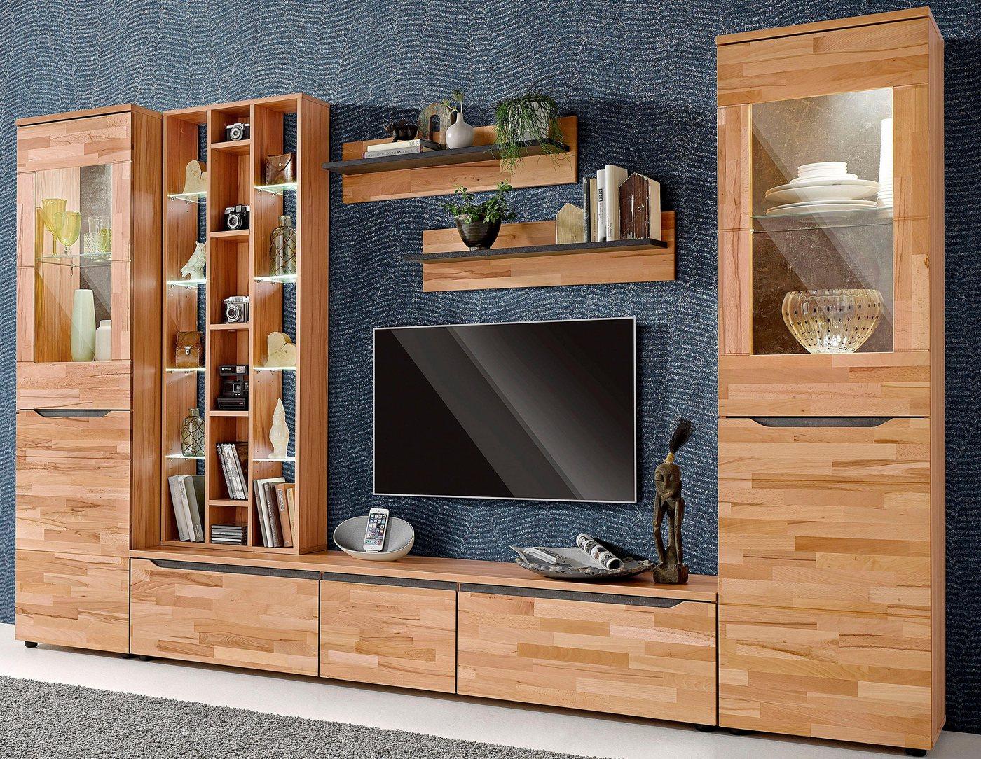 leonardo living cube wohnwand 6 tlg bestehend aus wohnzimmerschrank cube. Black Bedroom Furniture Sets. Home Design Ideas