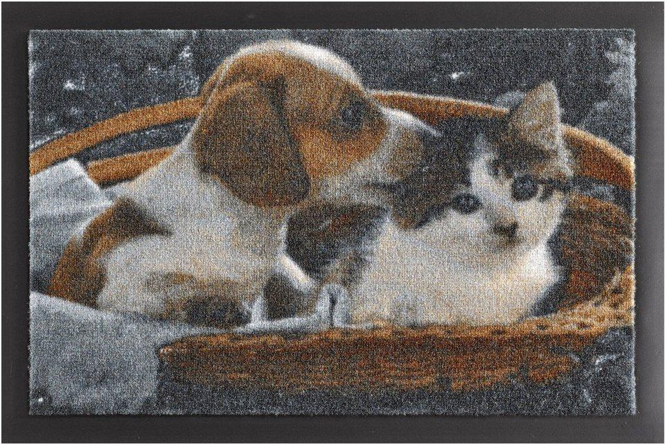 Fußmatte, Hanse Home, »Animals 2«, rutschhemmend beschichtet, getuftet in braun weiss