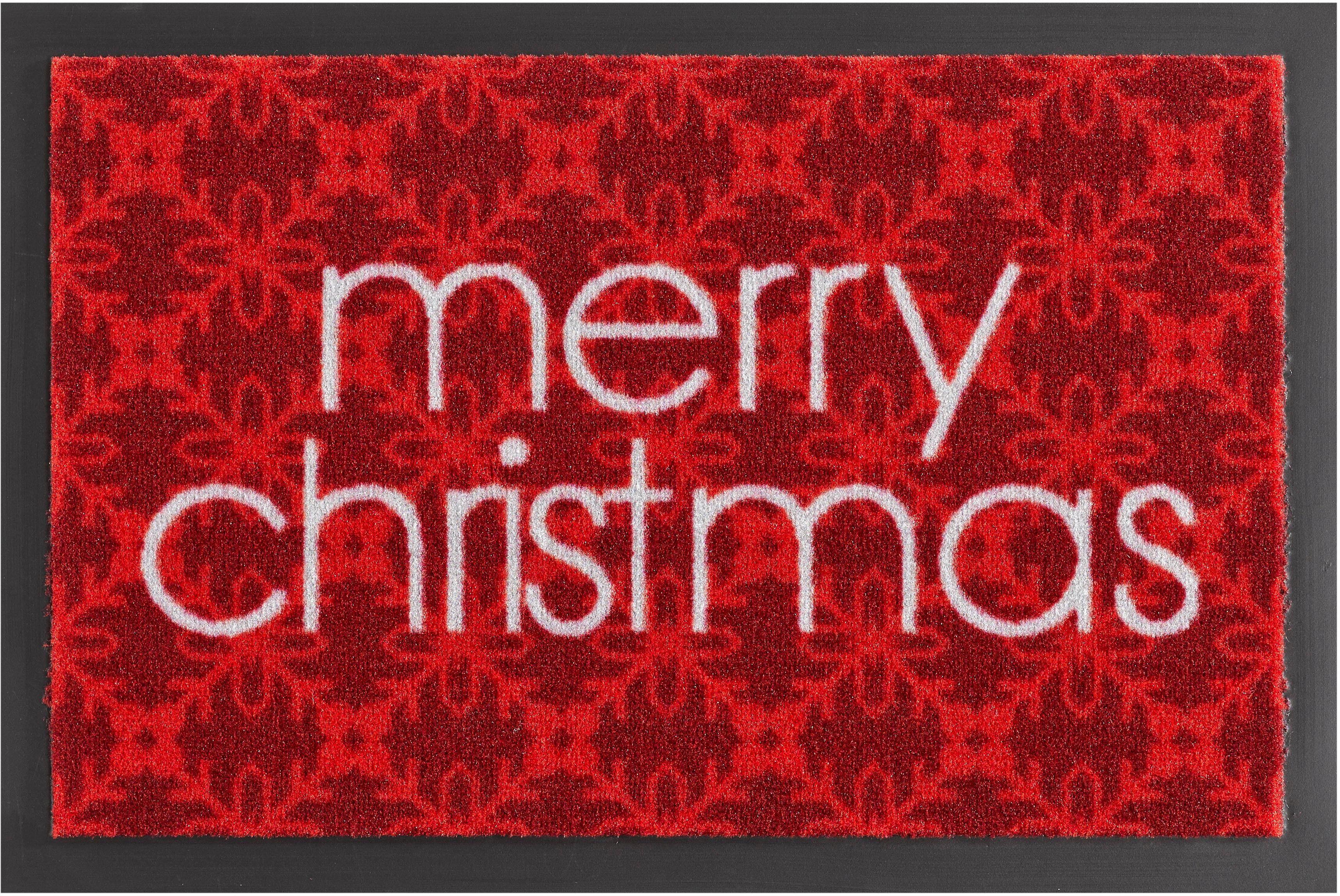 Fußmatte, Hanse Home, »Merry Christmas«, rutschhemmend beschichtet, getuftet