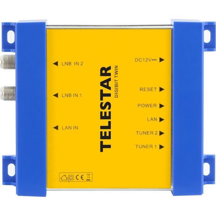 TELESTAR Sat-to-IP Router »Digibit Twin« in blau-gelb