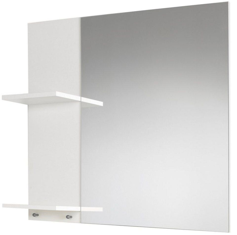 Spiegel / Badspiegel »Basic« Breite 70 cm, mit seitlichen Ablagen in weiß