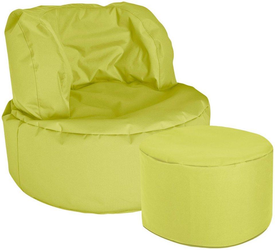 Sitzsack »SCUBA Bebop Uni«, 2er Set in grün