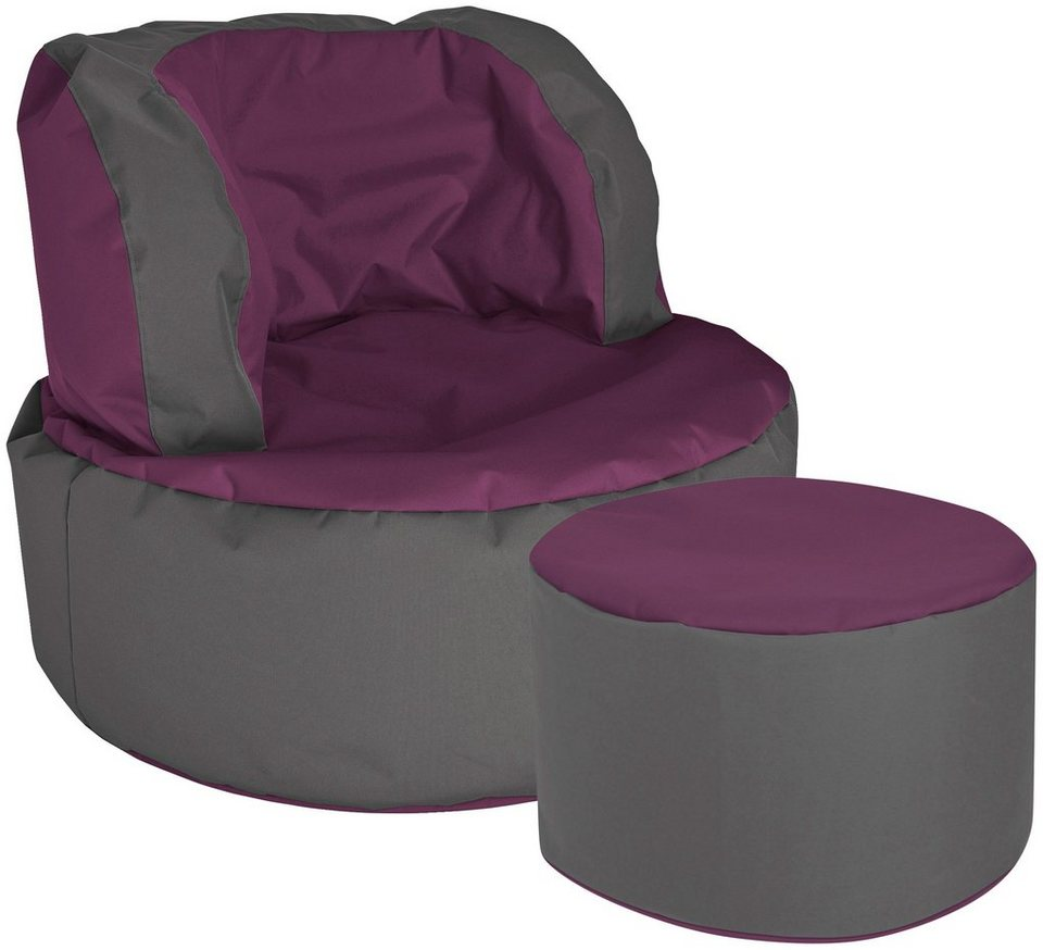 Sitzsack »SCUBA Bebop«, 2er Set in auberginefarben
