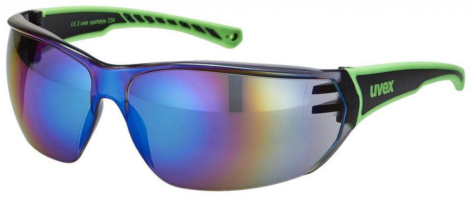 UVEX Radsportbrille »sportstyle 204 Brille« in schwarz