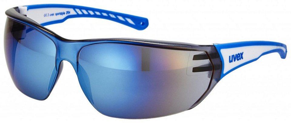 UVEX Radsportbrille »sportstyle 204 Brille« in weiß