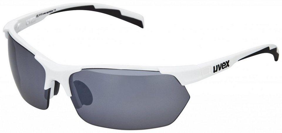 UVEX Radsportbrille »sportstyle 114 Brille« in weiß