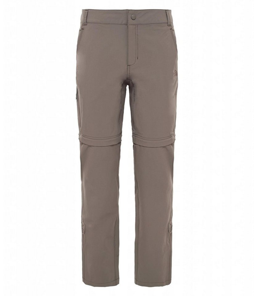 The North Face Outdoorhose »Exploration Convertible Pant Short Women« in braun
