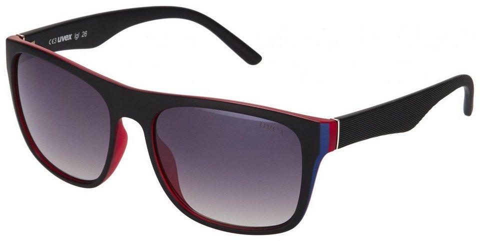 UVEX Radsportbrille »lgl 26 Brille« in schwarz