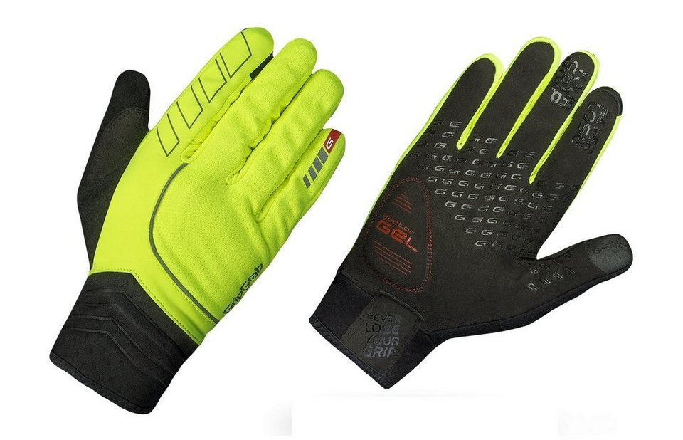 GripGrab Fahrrad Handschuhe »Hurricane Hi-Vis Gloves« in gelb