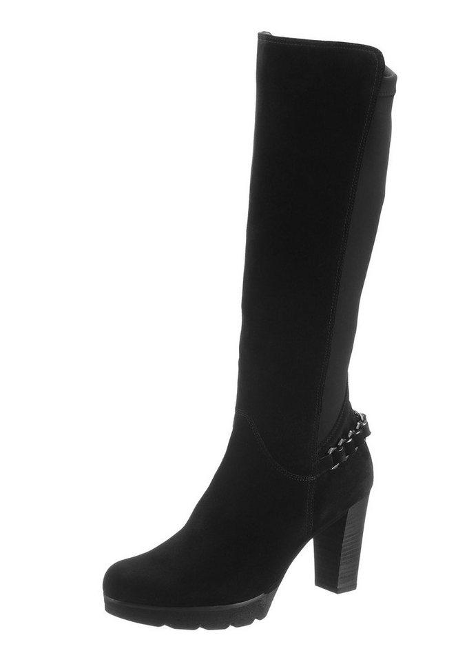 Paul Green Stiefel mit variablen Normalschaft in schwarz
