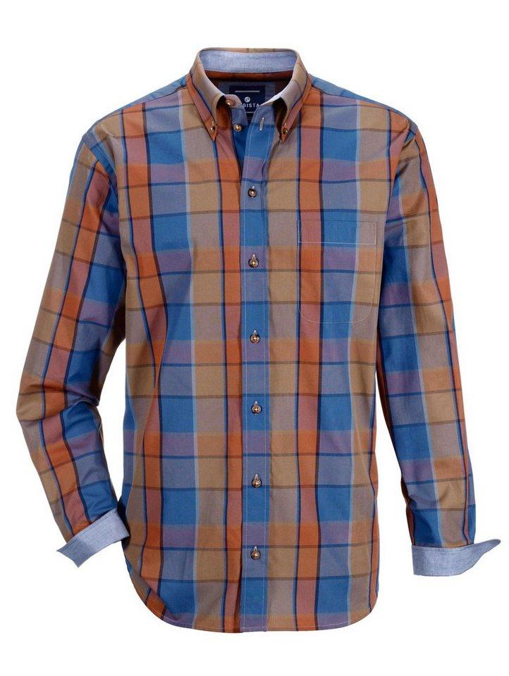 Babista Hemd mit Button-Down-Kragen in blau-braun-terraco