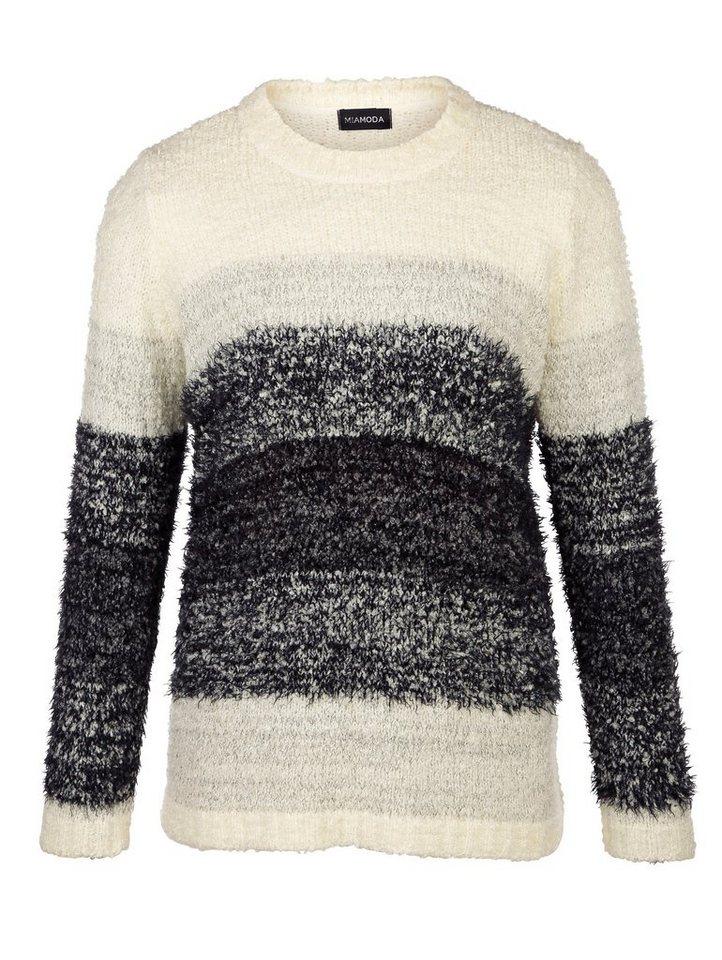 MIAMODA Pullover in creme/grau/melange