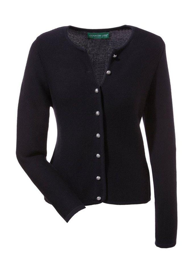 Country Line Strickjacke Damen in schwarz