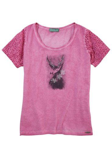 Country Line Trachtenshirt Damen mit Schmucksteinapplikation