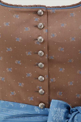 Turi Landhaus Dirndl midi mit Muster im modischen Retro-Style