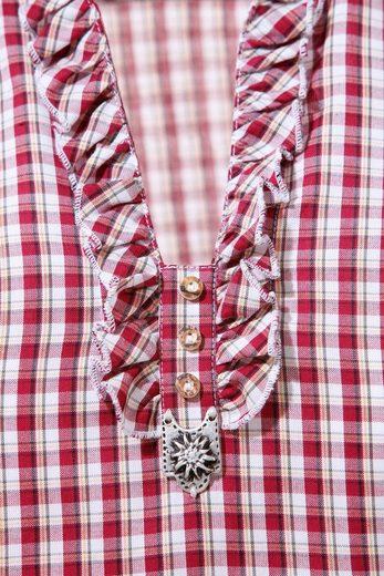OS-Trachten Trachtenbluse Damen im modischen Karodesign