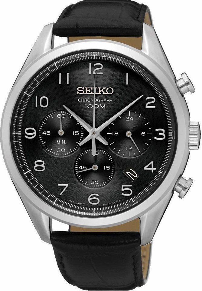 Seiko Chronograph »SSB231P1« in schwarz