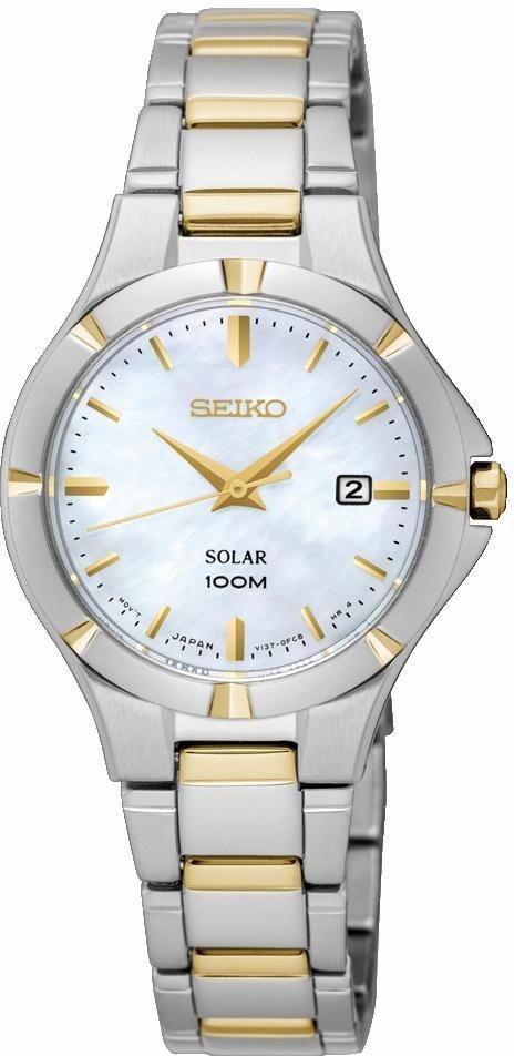 Seiko Solaruhr »SUT294P1« in silberfarben-goldfarben