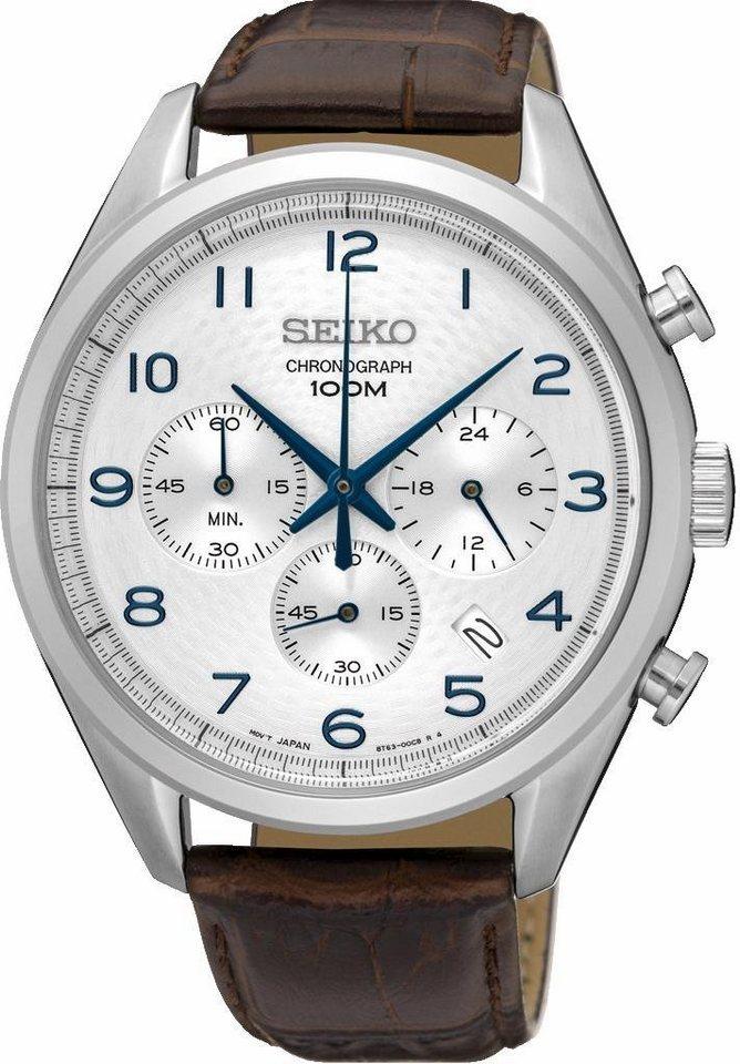 Seiko Chronograph »SSB229P1« in braun
