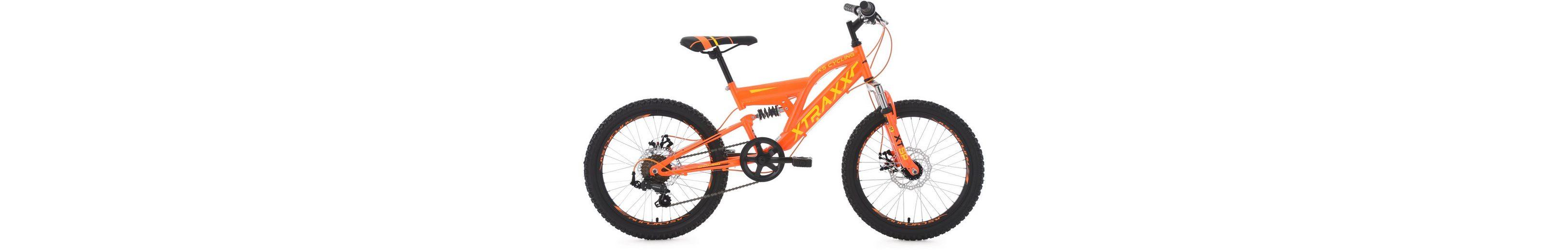 KS Cycling Jugendfahrrad, 20 Zoll, orange-gelb, Shimano 7 Gang-Kettenschaltung, »XTRAXX«