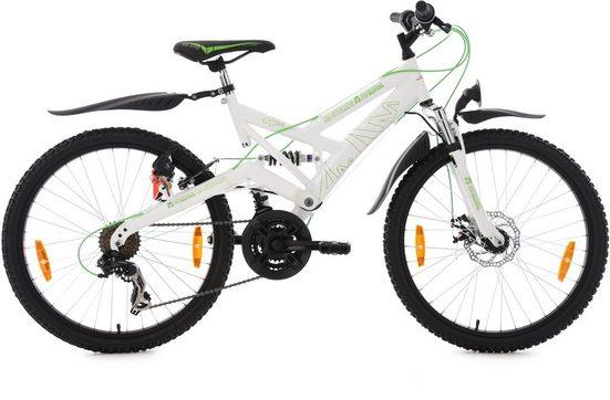KS Cycling Jugendfahrrad »4Masters«, 21 Gang Shimano Tourney RD-TX 31 Schaltwerk, Kettenschaltung