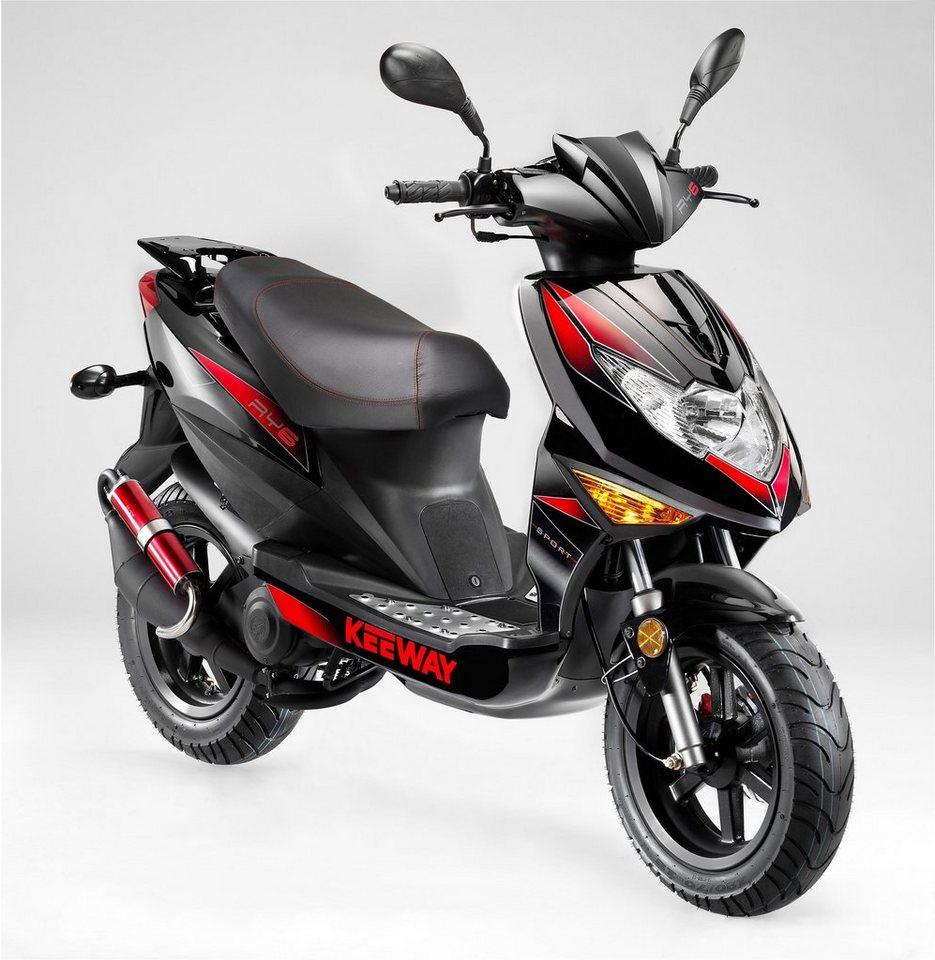 Keeway Motorroller, 50 ccm, 45 km/h, »RY6 Racing« in schwarz-rot