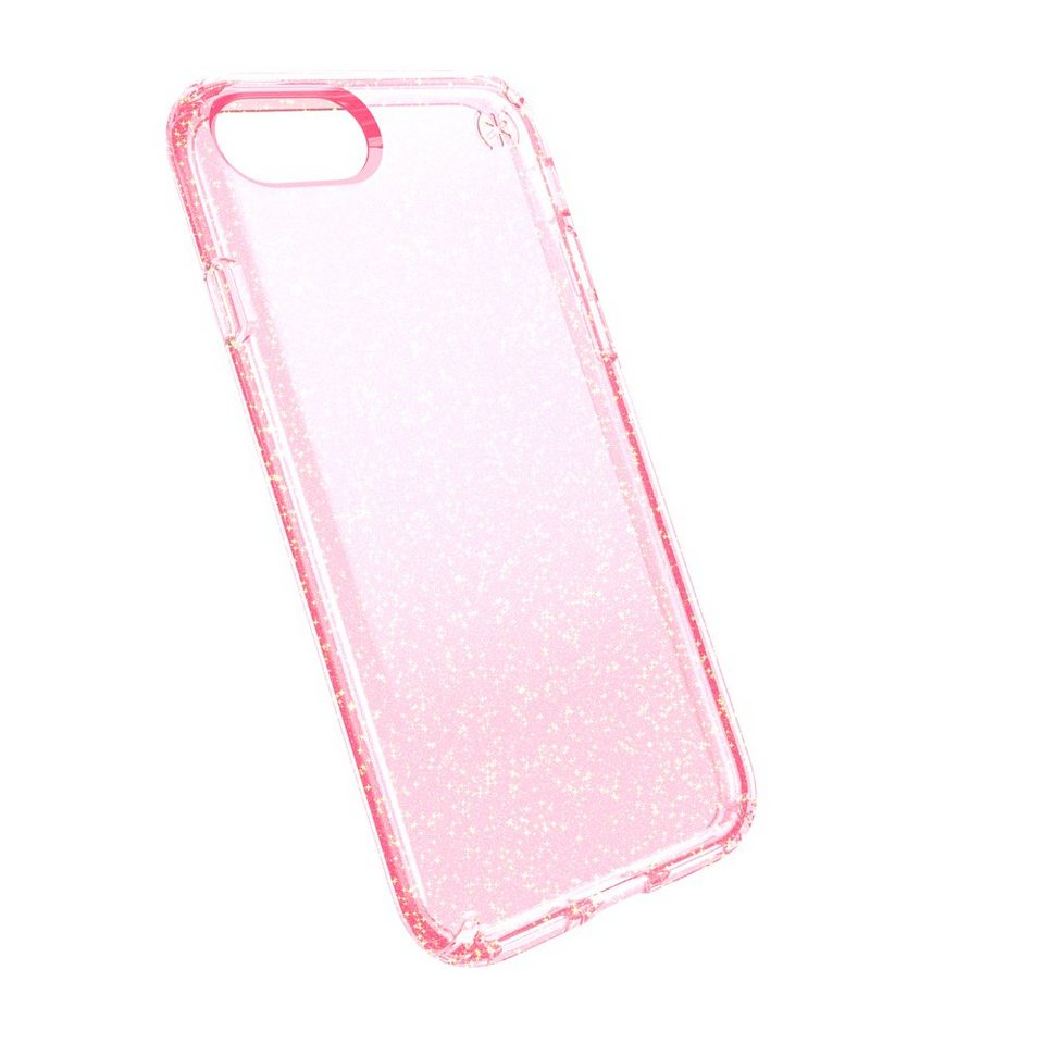 Speck HardCase »PRESIDIO iPhone (7) CLEAR GLITTER ROSE PINK WITH R« in transparent
