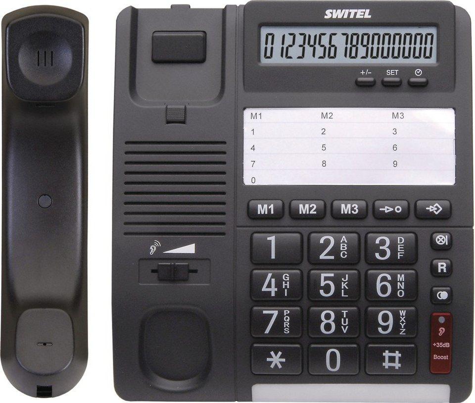 Switel Komfortables Schnurlos-Telefon »TF535« in schwarz