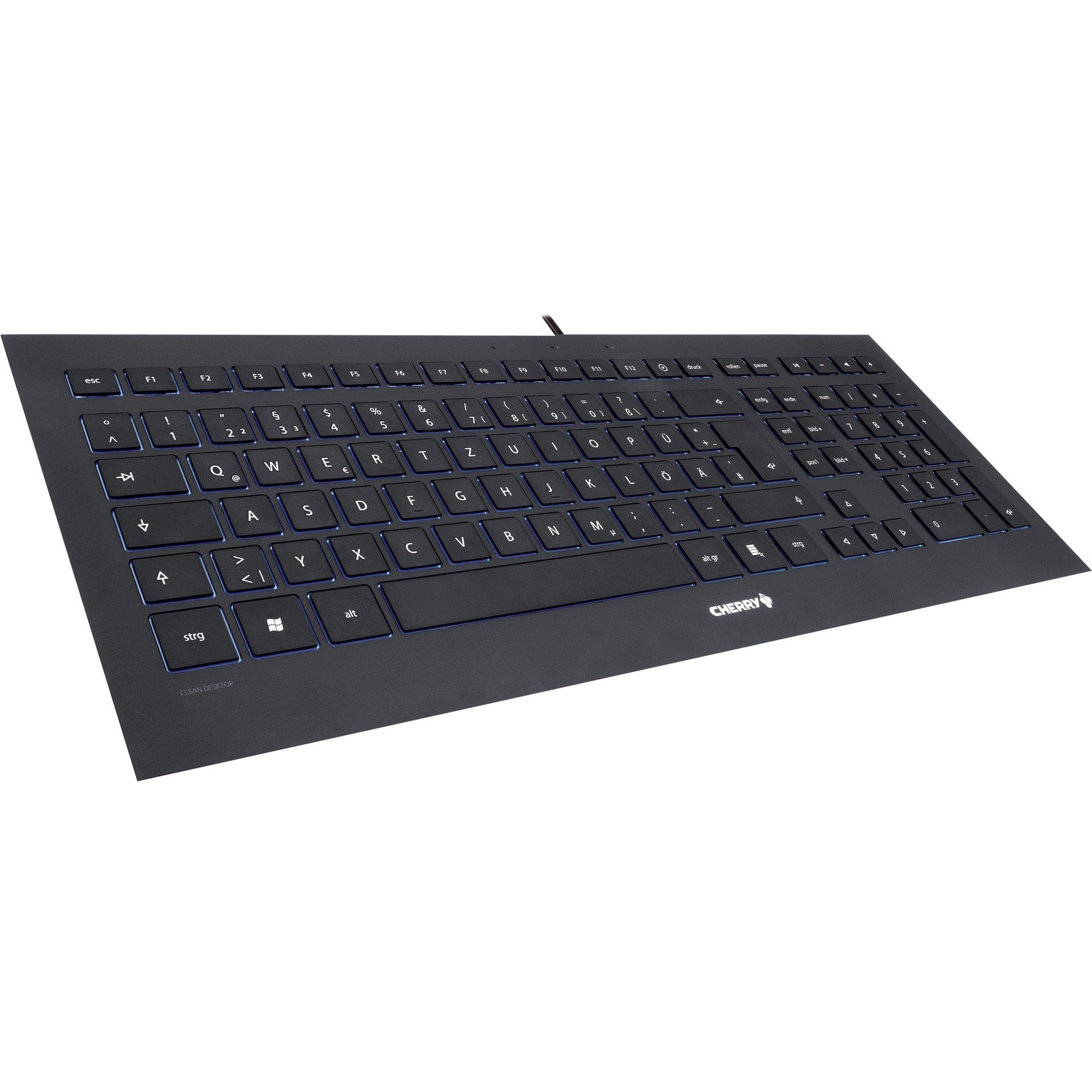 Cherry Tastatur »STRAIT BLACK Corded Keyboard«