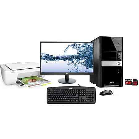 Hyrican PC Set, AMD A4-7300, Windows 10, Office 365, Monitor + Drucker »PC-Set SET01096«