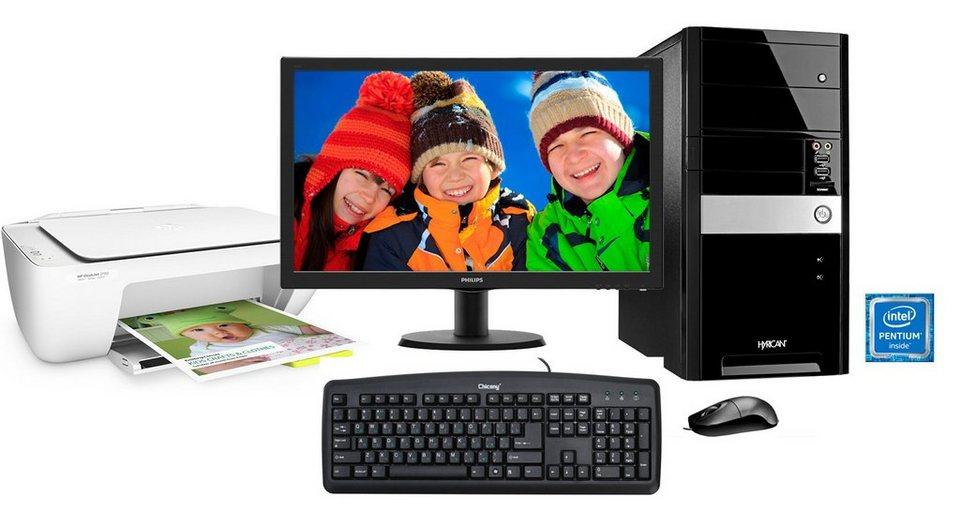 Hyrican PC Set, Intel® Pentium® G4400 , Office 365, Monitor + Drucker »PC-Set SET01095«