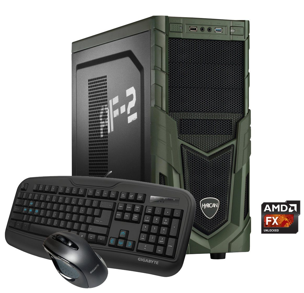 Hyrican Gaming PC AMD FX-8350, 16GB, 1TB + 240GB SSD, Radeon™ RX 480 »Military Gaming 5308«