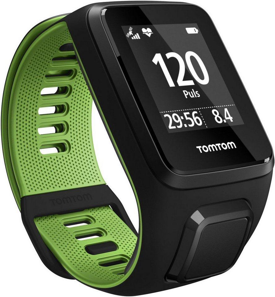 TomTom Activity Tracker »RUNNER 3 Cardio+Music+BT-Headphones - Large« in Schwarz-Grün