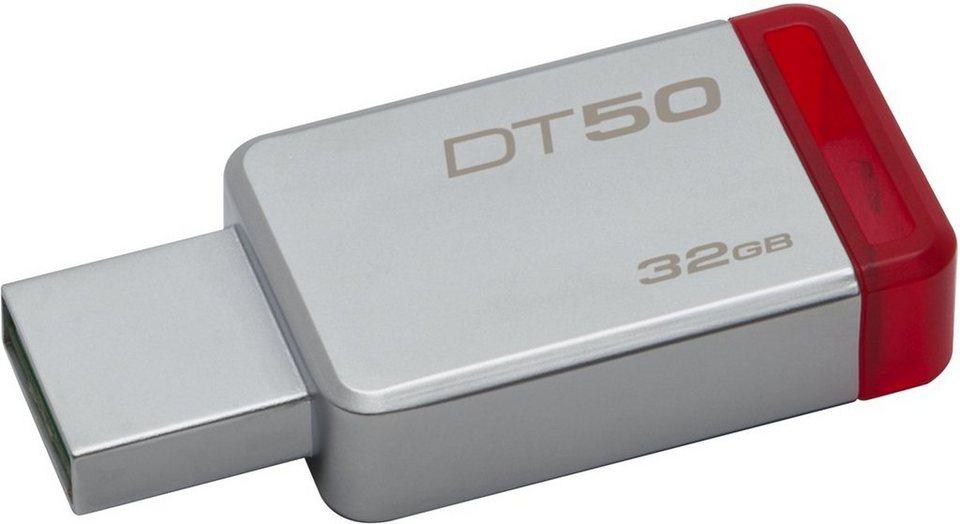Kingston USB-Stick »Data Traveler 50, USB 3.0, 32GB« in Silber-Rot