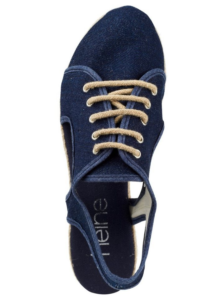 Heine Keilsandalette in jeansblau